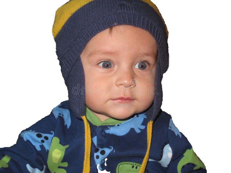 белизна мальчика предпосылки младенца стоковая фотография