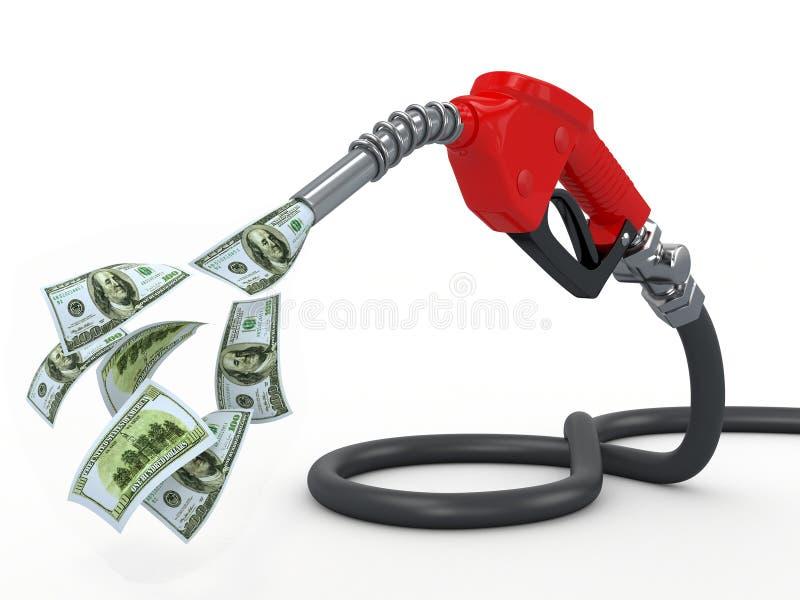 белизна насоса сопла газа доллара предпосылки иллюстрация вектора