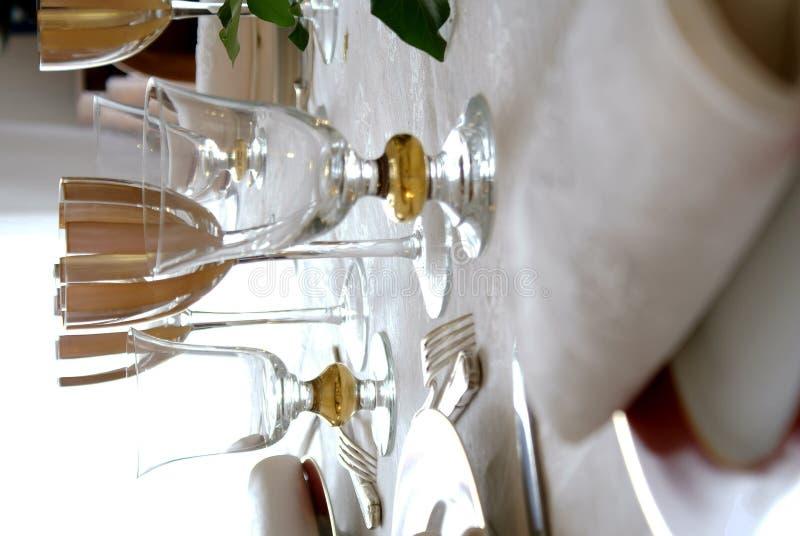 белизна обеденного стола 2 стоковое изображение rf