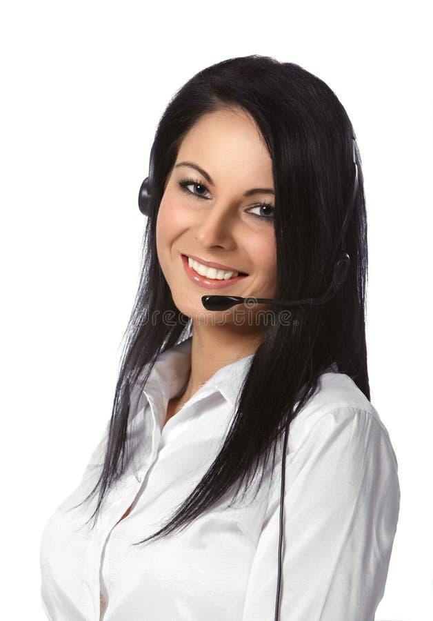 белизна обслуживания оператора клиента предпосылки стоковая фотография
