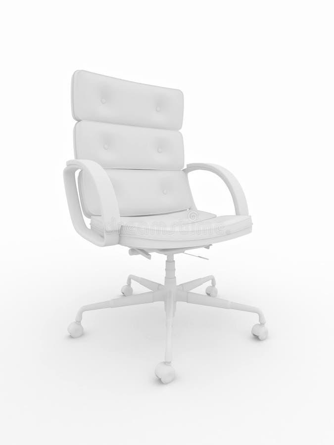 белизна офиса кресла isolared предпосылкой иллюстрация вектора