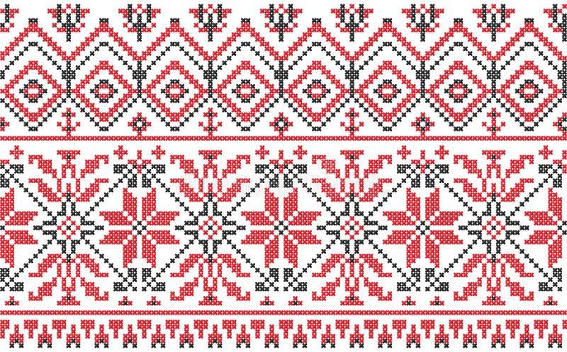 белизна перекрестным стежком орнамента украинская иллюстрация штока