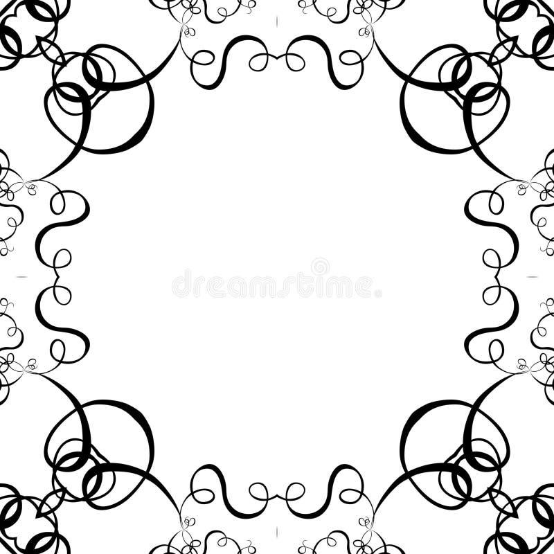 белизна переченя рамки предпосылки черная иллюстрация вектора