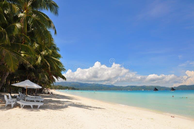белизна песка boracay пляжа красивейшая стоковое фото