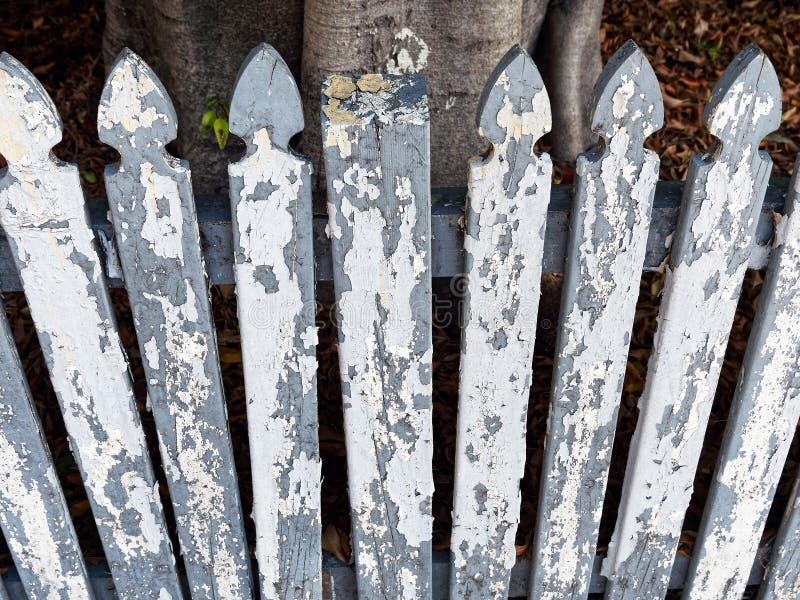 белизна пикетчика загородки старая стоковые изображения rf