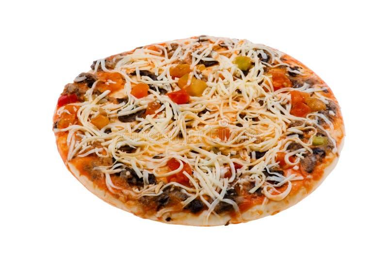 Download белизна пиццы сырцовая стоковое фото. изображение насчитывающей сыр - 18379208
