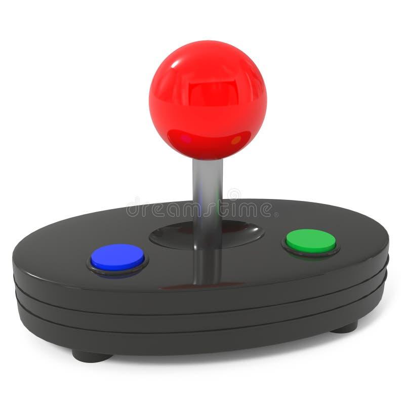 белизна ПК регулятора изолированная игрой иллюстрация вектора