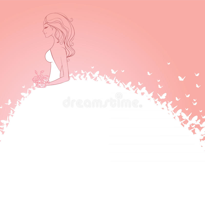 белизна платья невесты бесплатная иллюстрация