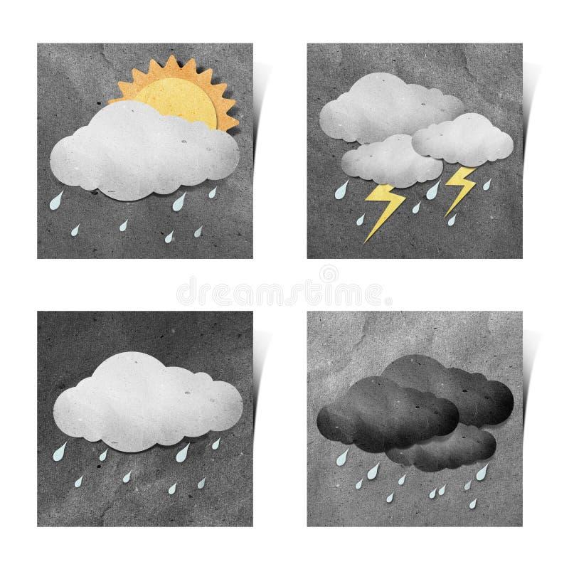 белизна погоды ручки grunge корабля рециркулированная бумагой иллюстрация штока