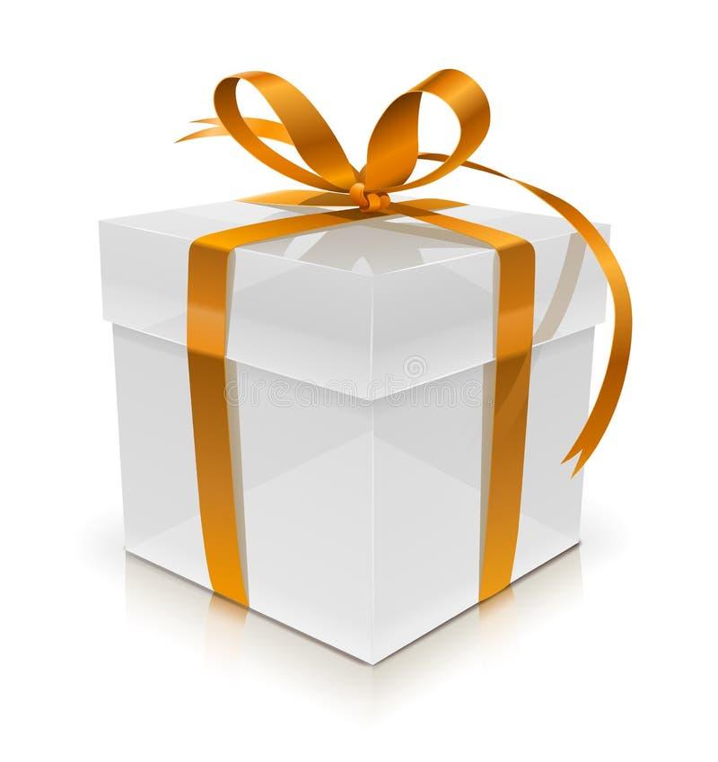 белизна подарка коробки смычка бесплатная иллюстрация