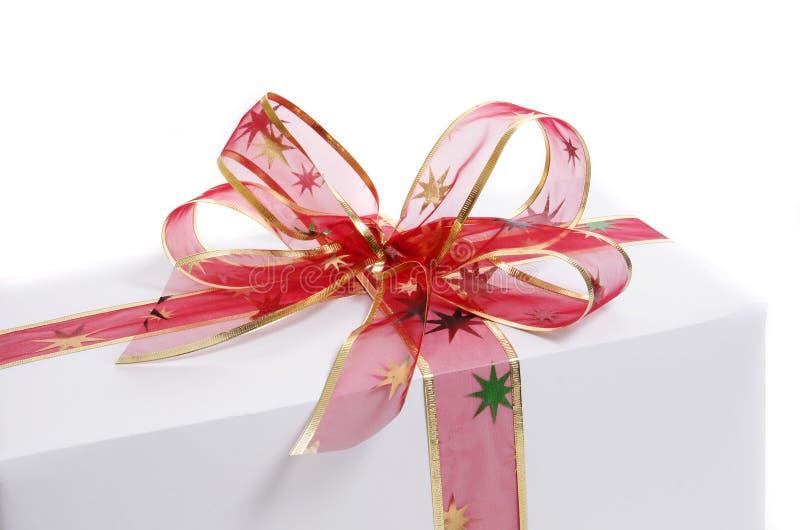 белизна подарка стоковое изображение