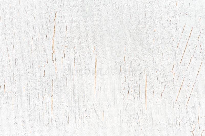 Белизна покрасила треснутую деревянную текстуру стоковые фотографии rf