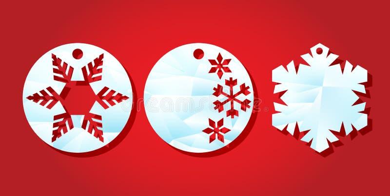 белизна покупкы сбывания девушки рождества предпосылки счастливая Ярлыки шаблона для вырезывания лазера Круглая бирка с картиной  бесплатная иллюстрация