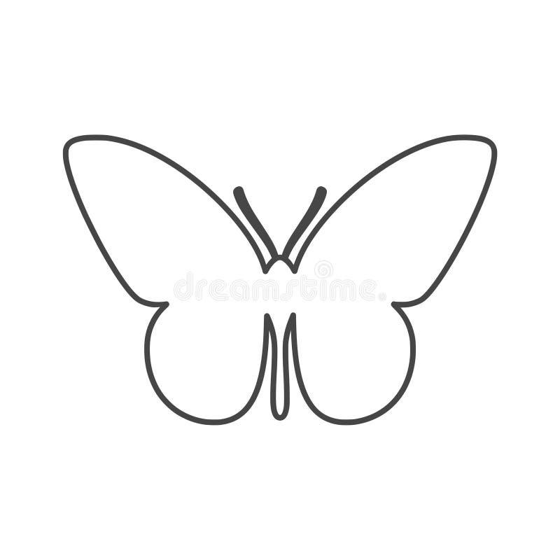 белизна предпосылки изолированная бабочкой иллюстрация штока