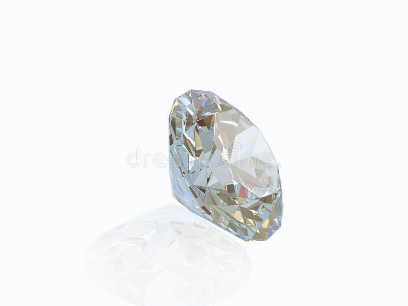 белизна предпосылки изолированная диамантом бесплатная иллюстрация