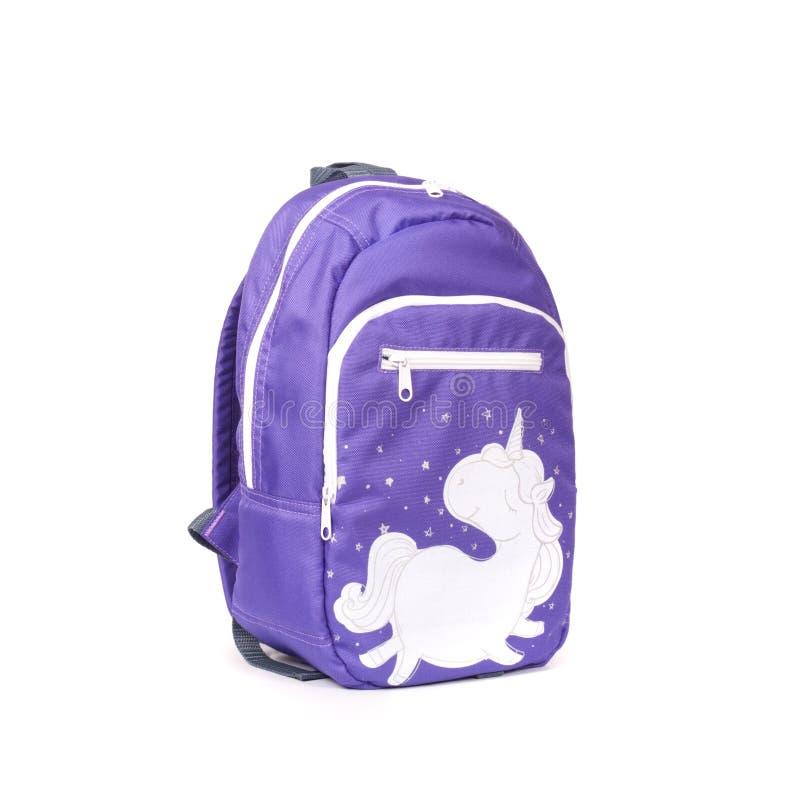 белизна предпосылки изолированная backpack стоковые фото