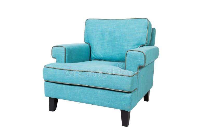 белизна предпосылки кресла изолированная синью стоковое фото