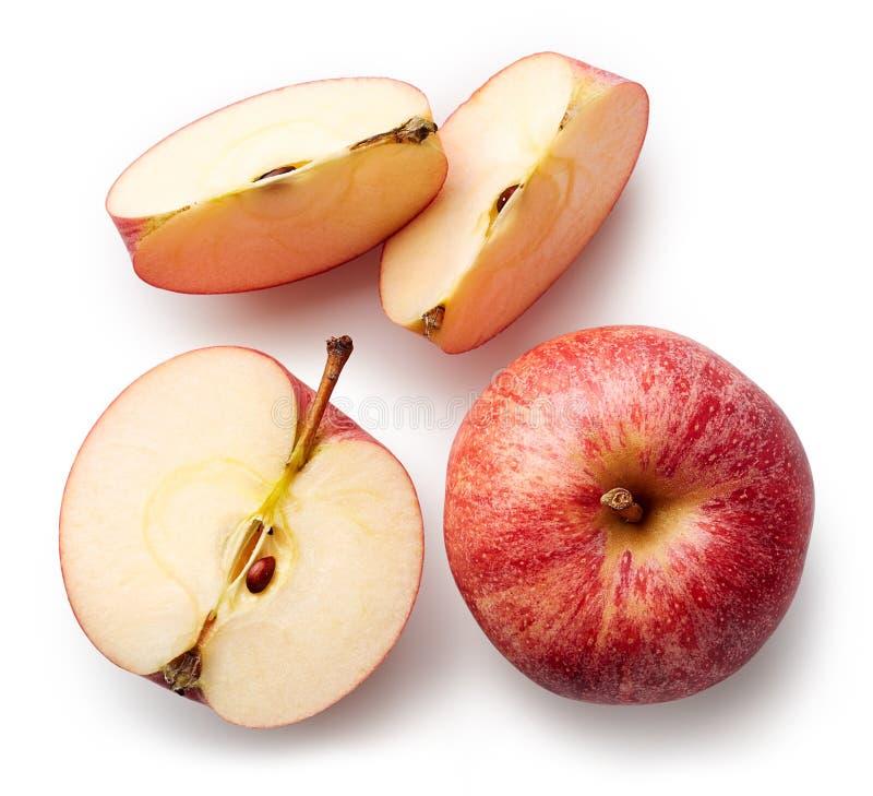 белизна предпосылки яблока свежая изолированная стоковая фотография