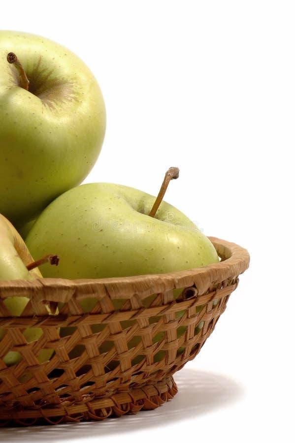 белизна предпосылки яблок свежая Стоковая Фотография