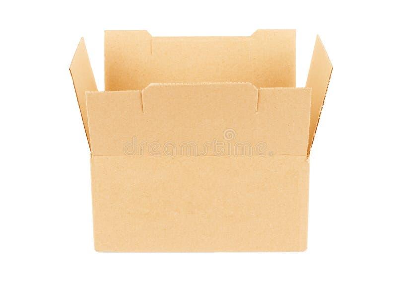 белизна пустого изображения картона коробки предпосылки открытая стоковая фотография