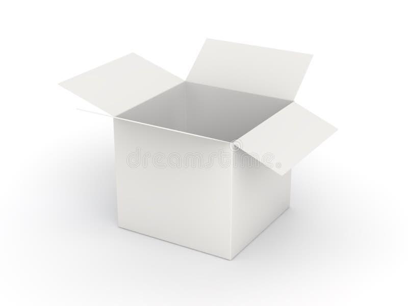 белизна пустой коробки открытая иллюстрация вектора