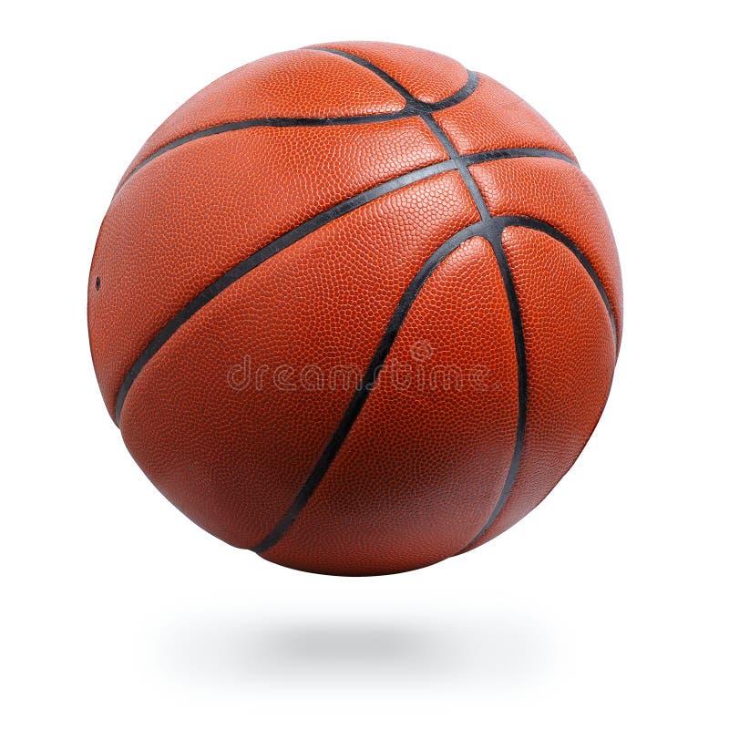 белизна путя баскетбола шарика изолированная клиппированием стоковое изображение rf