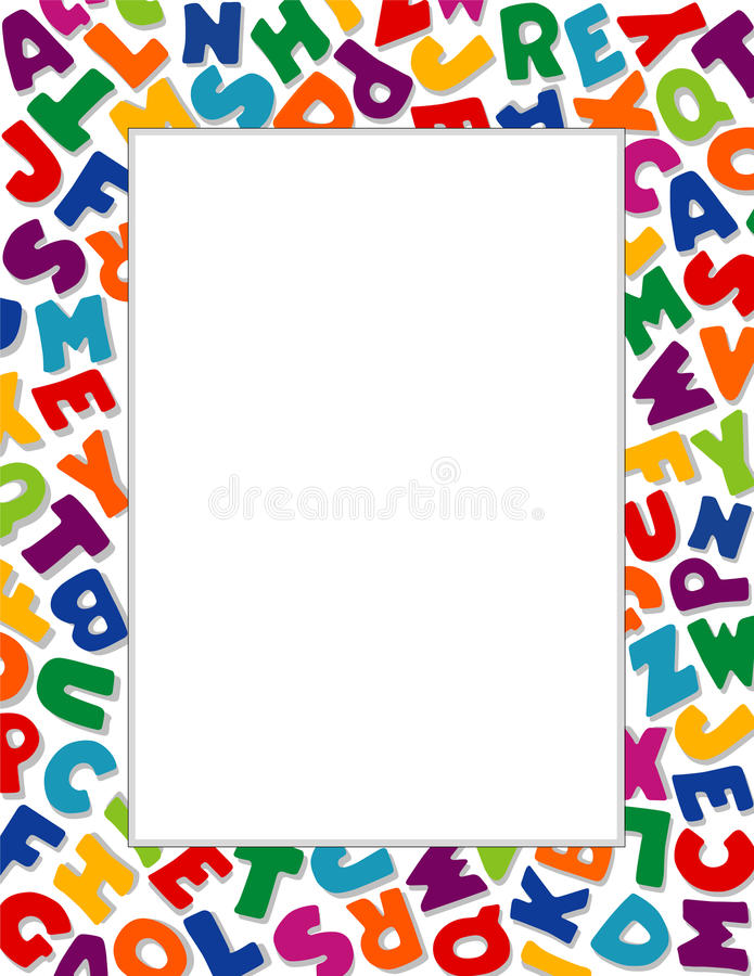 белизна рамки предпосылки алфавита иллюстрация вектора