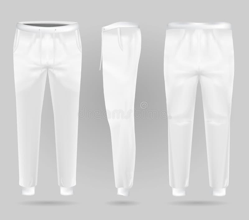 Белизна резвится брюки Шаблон дизайна sweatpants спорт бесплатная иллюстрация