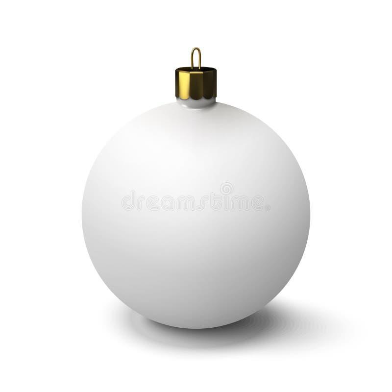 белизна рождества шарика форма 3d голубая тень орнамента иллюстрации цветка рождества стоковые фото