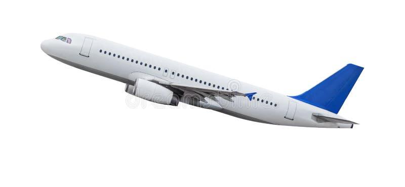 белизна самолета изолированная предпосылкой стоковые изображения