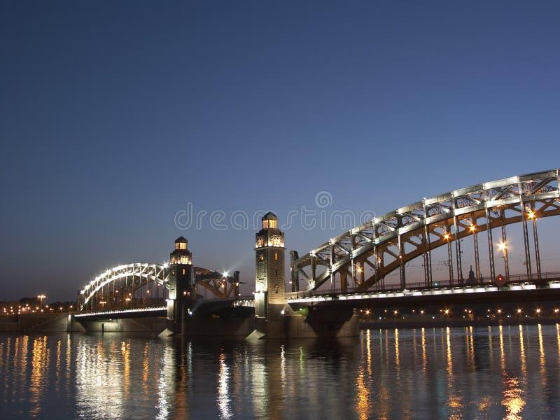 белизна святой petersburg ночей стоковая фотография rf