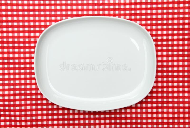 белизна сервировки диска плиты стоковые фото