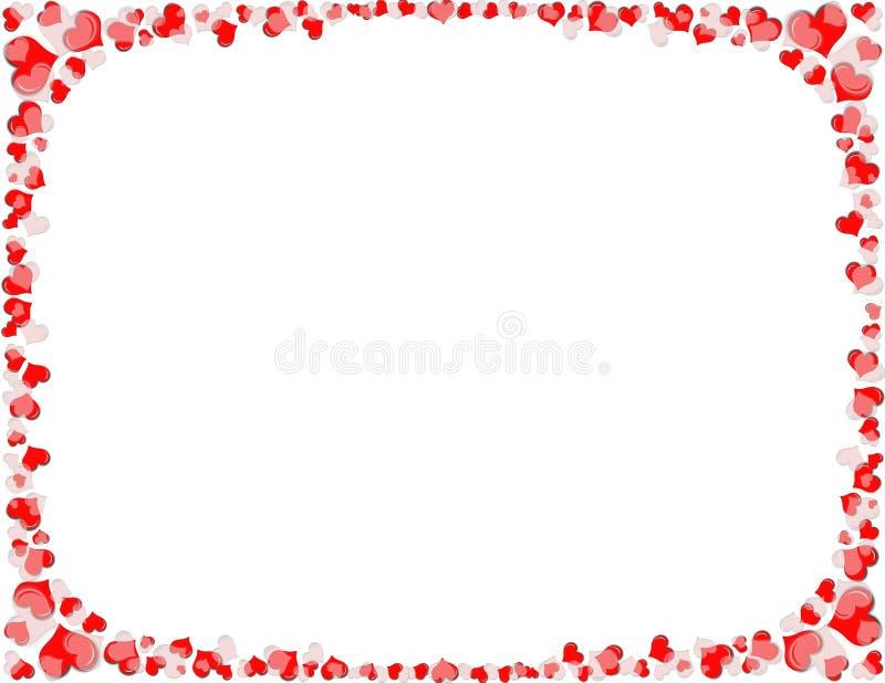 белизна сердца граници красная бесплатная иллюстрация