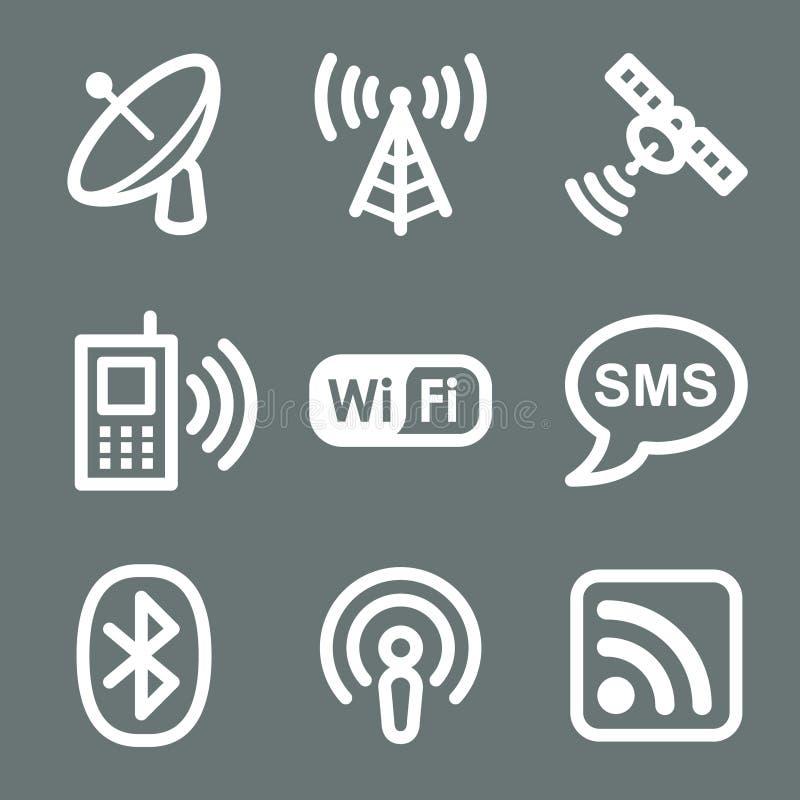 белизна сети икон связи бесплатная иллюстрация
