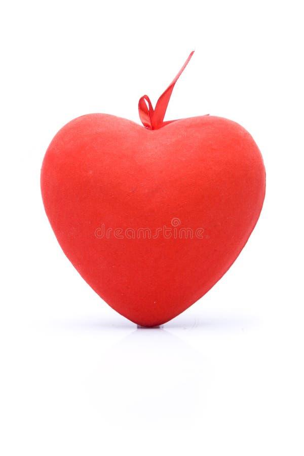 белизна символа предпосылки изолированная сердцем красная стоковое фото rf