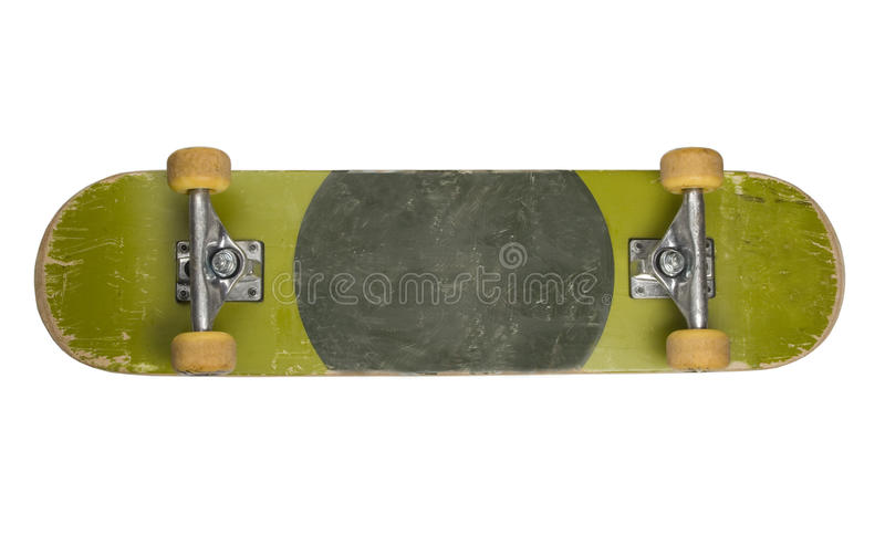 белизна скейтборда дна предпосылки стоковое изображение rf