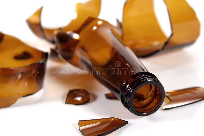 белизна сломанная бутылкой стоковые фото