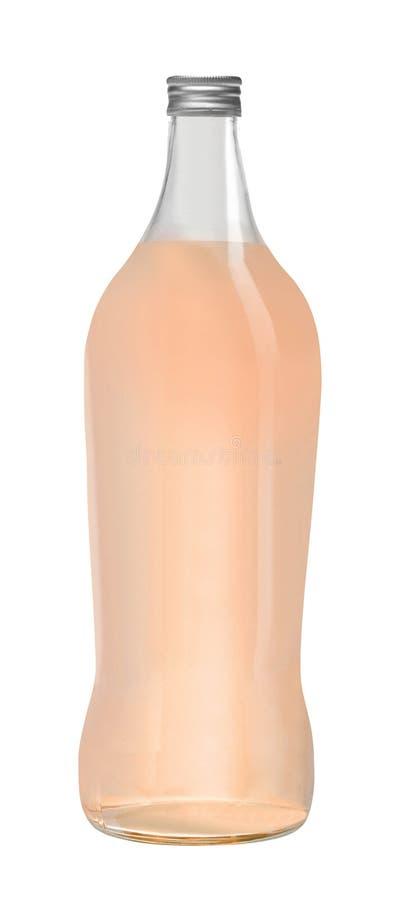 белизна сока бутылочного стекла предпосылки изолированная грейпфрутом стоковое изображение rf