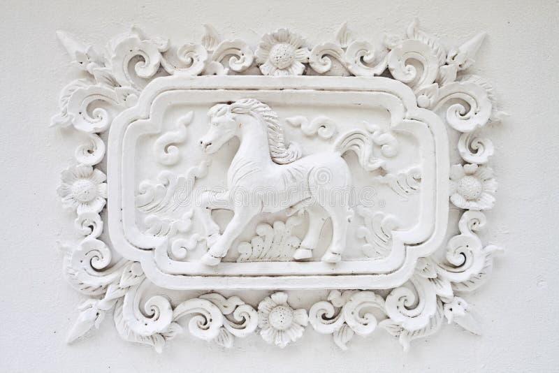 белизна стены лошади стоковое изображение rf