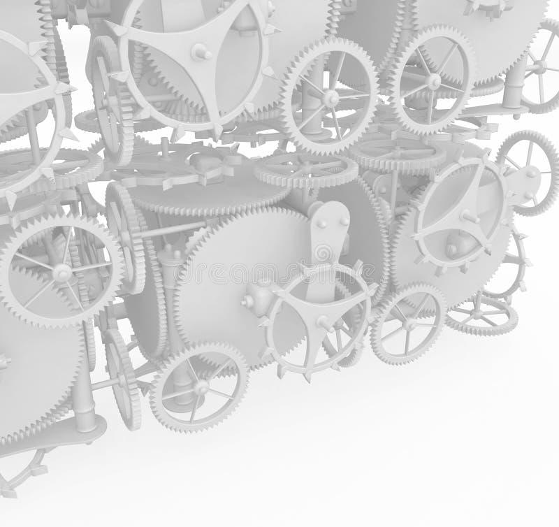 белизна стены clockwork иллюстрация штока
