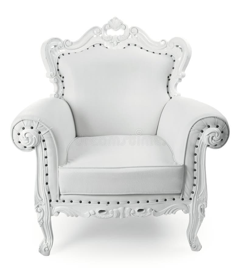 белизна стула стоковое изображение