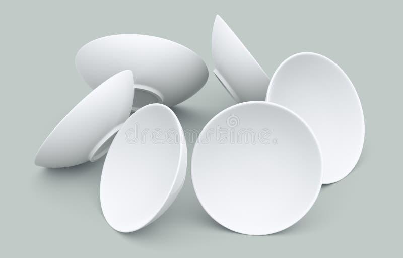 белизна сферы шара 3d стоковое изображение rf