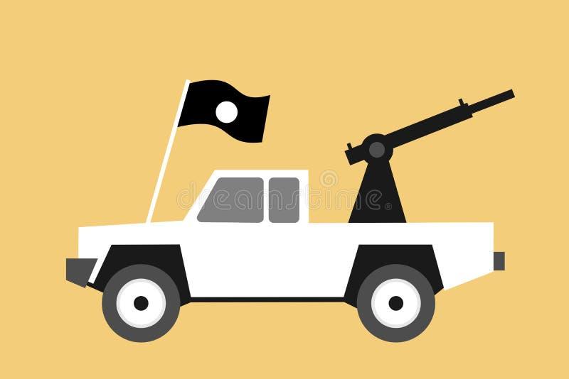 Белизна с грузового пикапа дороги подготовлена иллюстрация штока