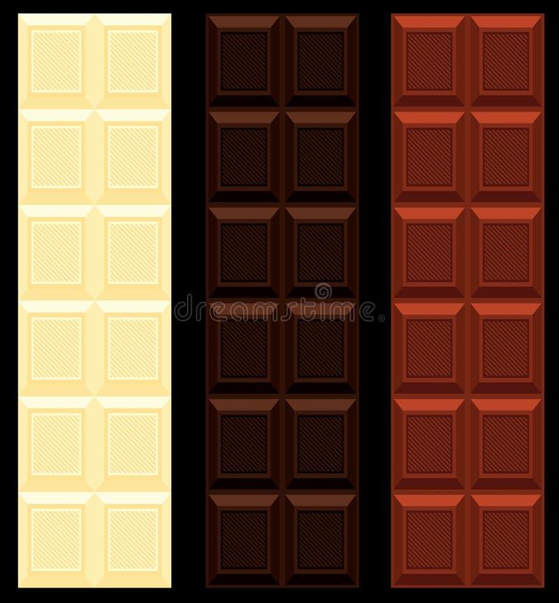 белизна темного молока шоколада безшовная иллюстрация вектора