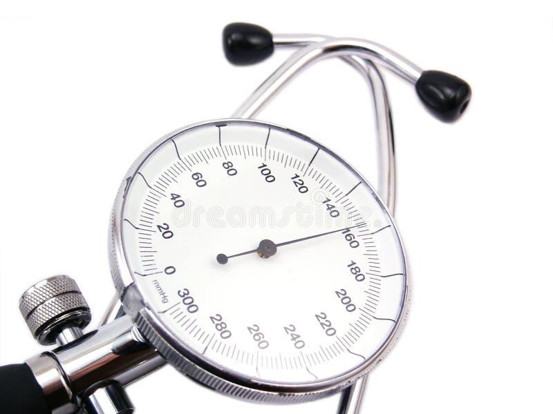белизна тени давления метра крови предпосылки мягко стоковое изображение