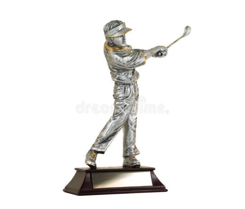 белизна трофея предпосылки изолированная гольфом стоковые изображения