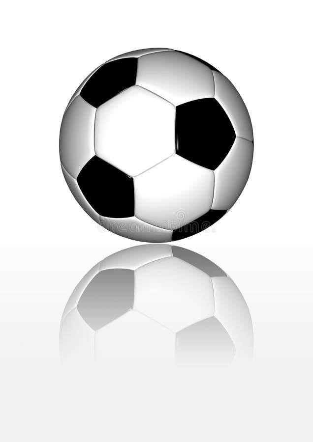 белизна футбола отражательная поверхностная стоковые фото