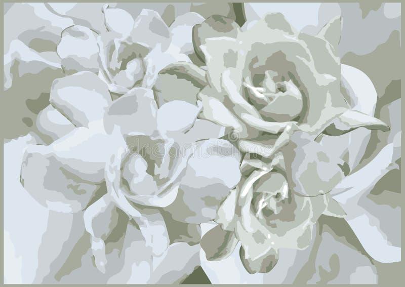 Белизна цветка и дизайн предпосылки картины иллюстрация штока