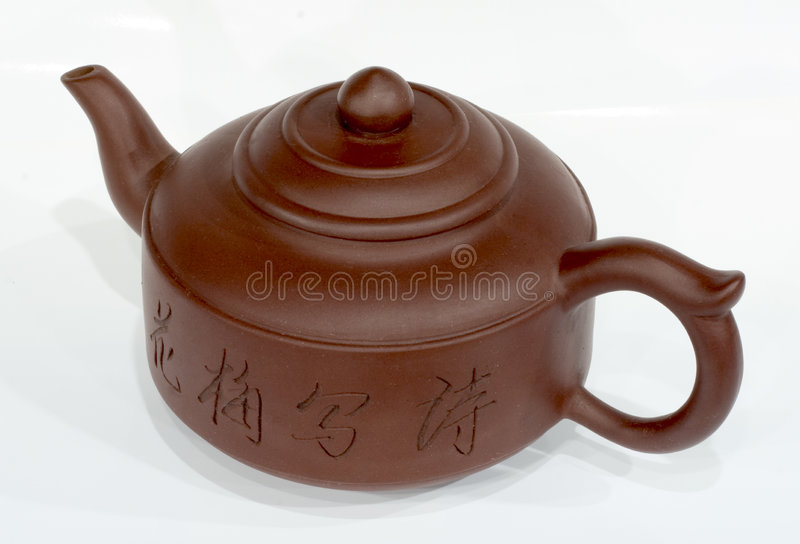 белизна чайника фарфора стоковое фото