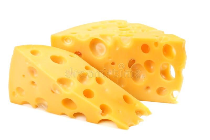 белизна части предпосылки изолированная сыром стоковая фотография rf